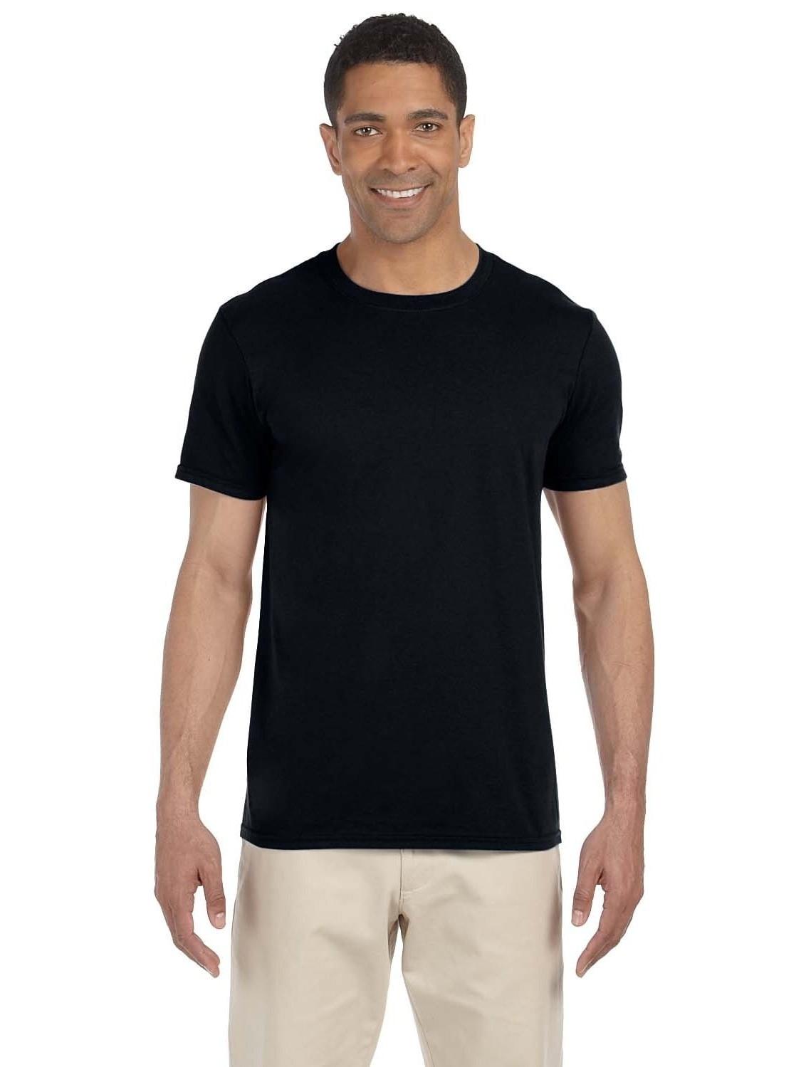 Gildan  Men's Black Softstyle Undershirts (Pack of 9)