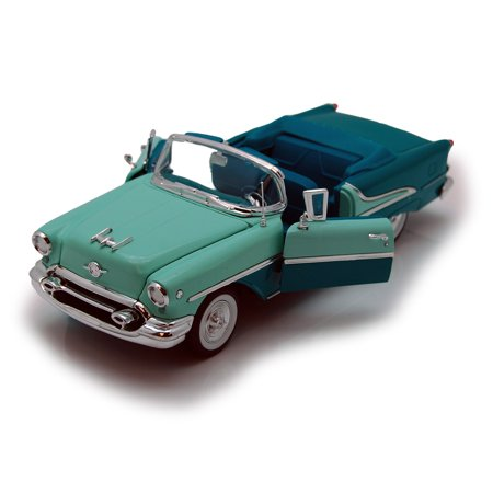 1955 Oldsmobile Super 88 Convertible, Green - Welly 22432 - 1/24 scale Diecast Model Toy Car ()