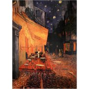 """Oriental Furniture Cafe Terrace on the Place du Forum Canvas Wall Art, 31.5""""H x 23.5""""W"""