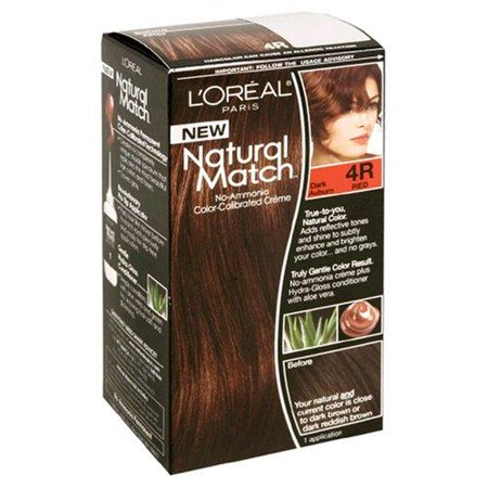 Natural Match Hair Color # 4R Dark Auburn L'Oreal Paris 1 ...