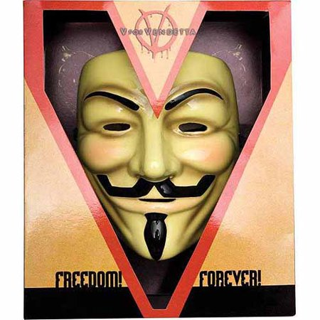 V For Vendetta Mask Deluxe Adult Halloween Accessory - V Is For Vendetta Mask