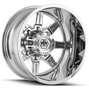 """Mayhem 8101 Monstir Dually Rear 22x8.25 8x210 -160mm Chrome Wheel Rim 22"""" Inch"""