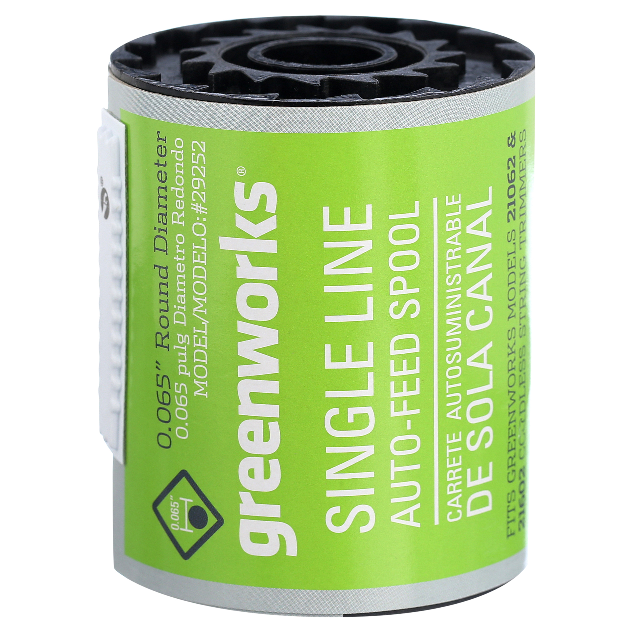 3pcs For Greenworks .065-Inch Single Line String-Trimmer Replacement Spool
