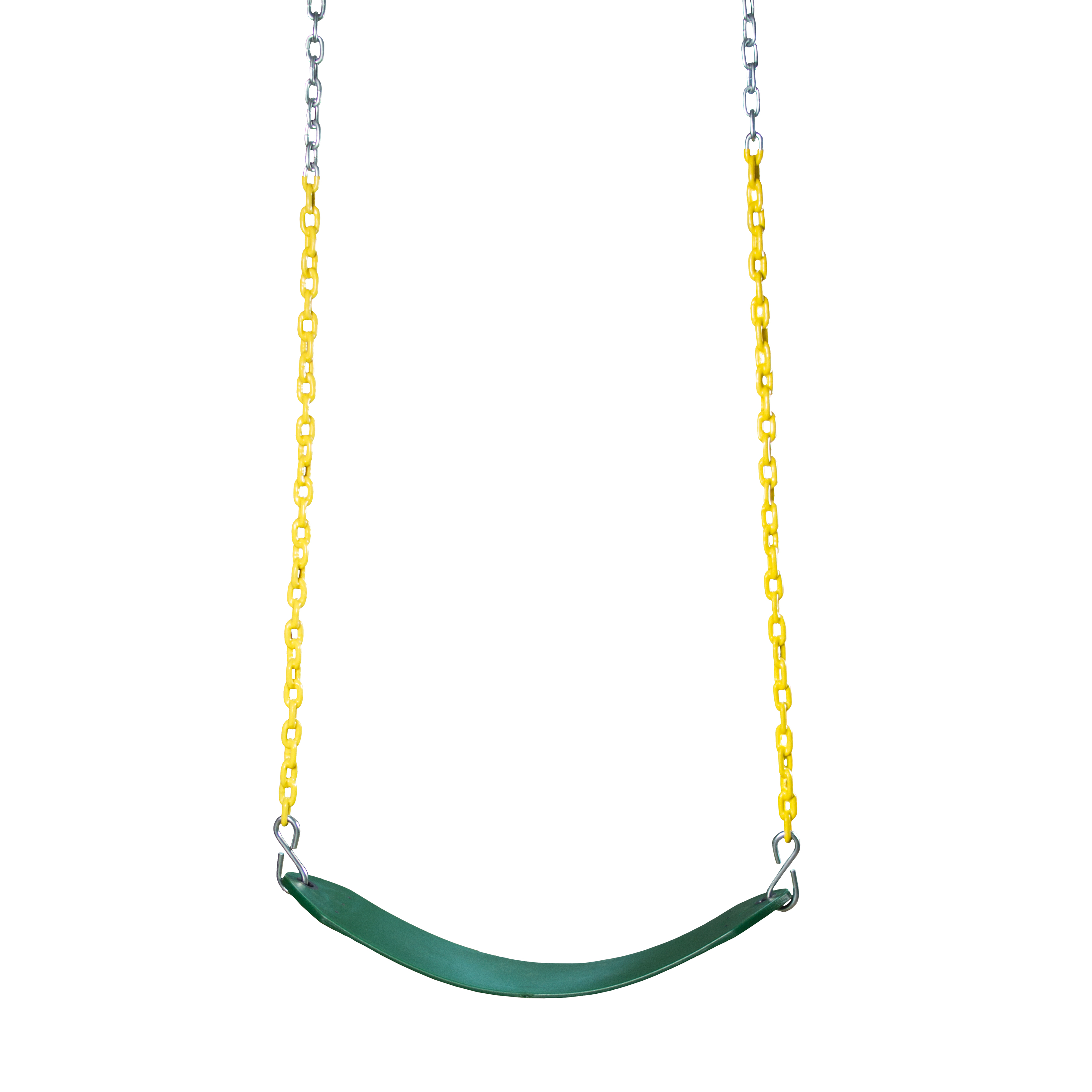 Gorilla Playsets Deluxe Swing Belt, Green with Yellow Chain