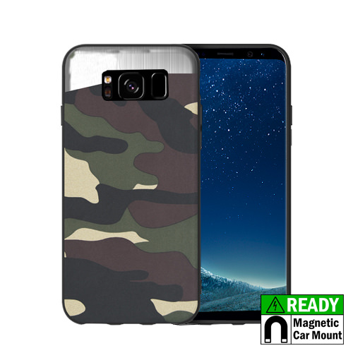 MUNDAZE Green Camo Magnetic Ready Case For Samsung Galaxy S8 Phone