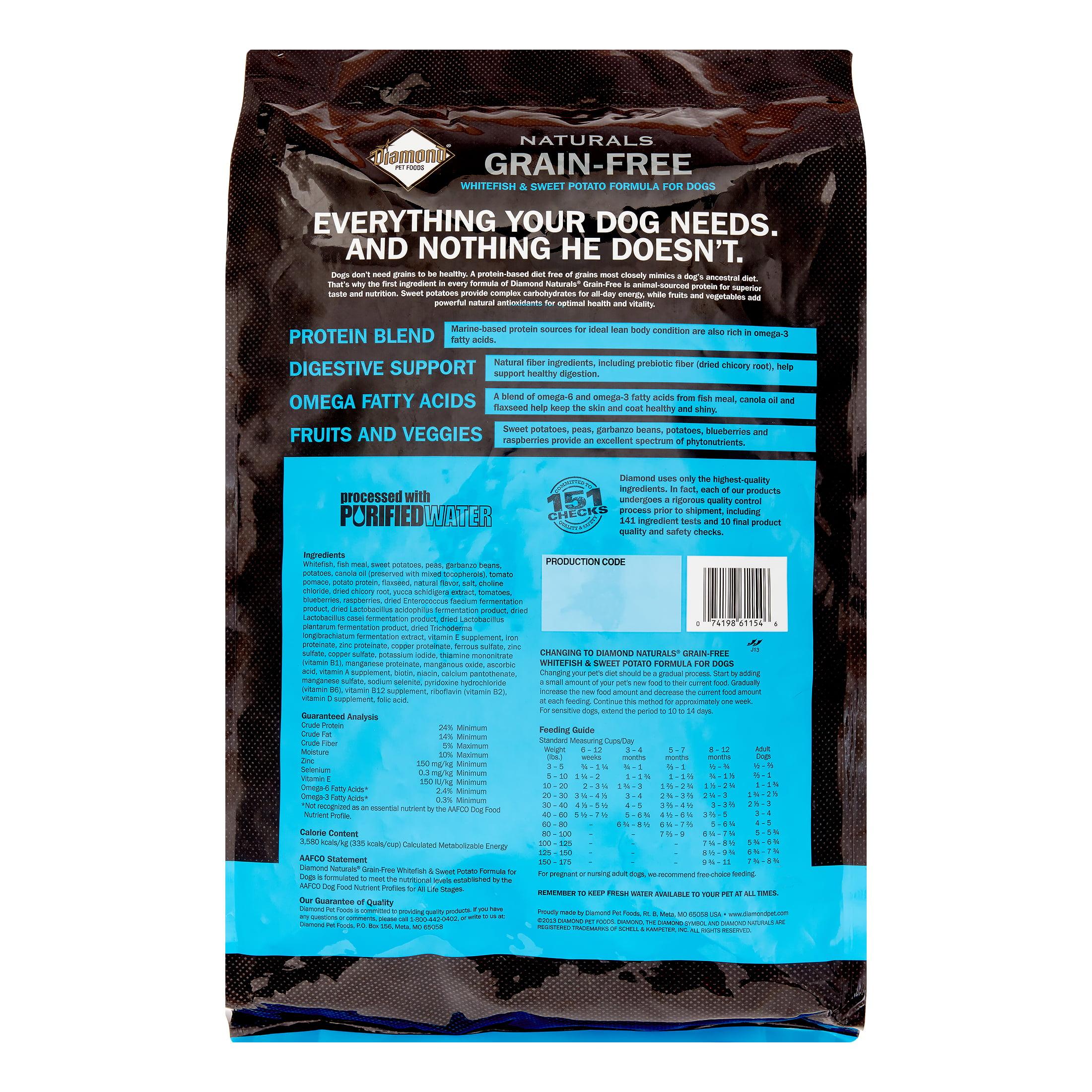 Diamond Grain-Free Whitefish & Sweet Potato Formula Dry Dog Food, 5 Lb