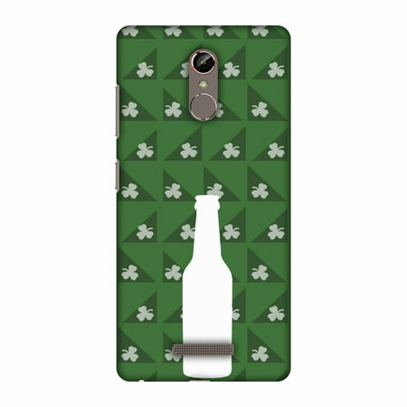 Gionee S6s Case, Premium Handcrafted Designer Hard Shell Snap On Case Printed Back Cover with Screen Cleaning Kit for Gionee S6s, Slim, Protective - Beer and pattern with shemrock -