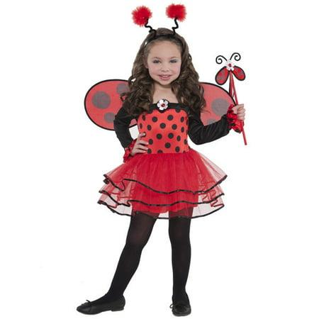 Ballerina Toddler Costume (Ballerina Bug Ladybug Costume Girls Child Toddler 3 - 4 3T -)