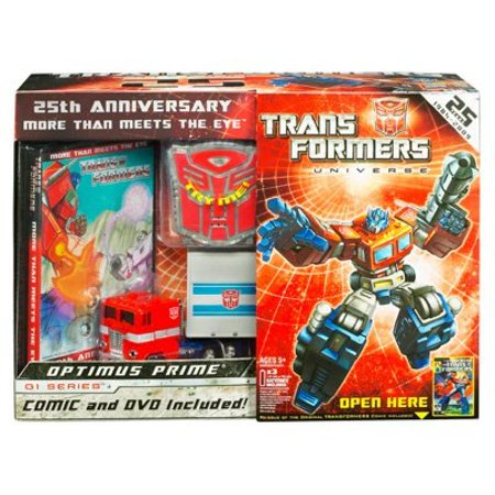 - Transformers Universe 25th Anniversary GI Series Deluxe Box Set Optimus Prime