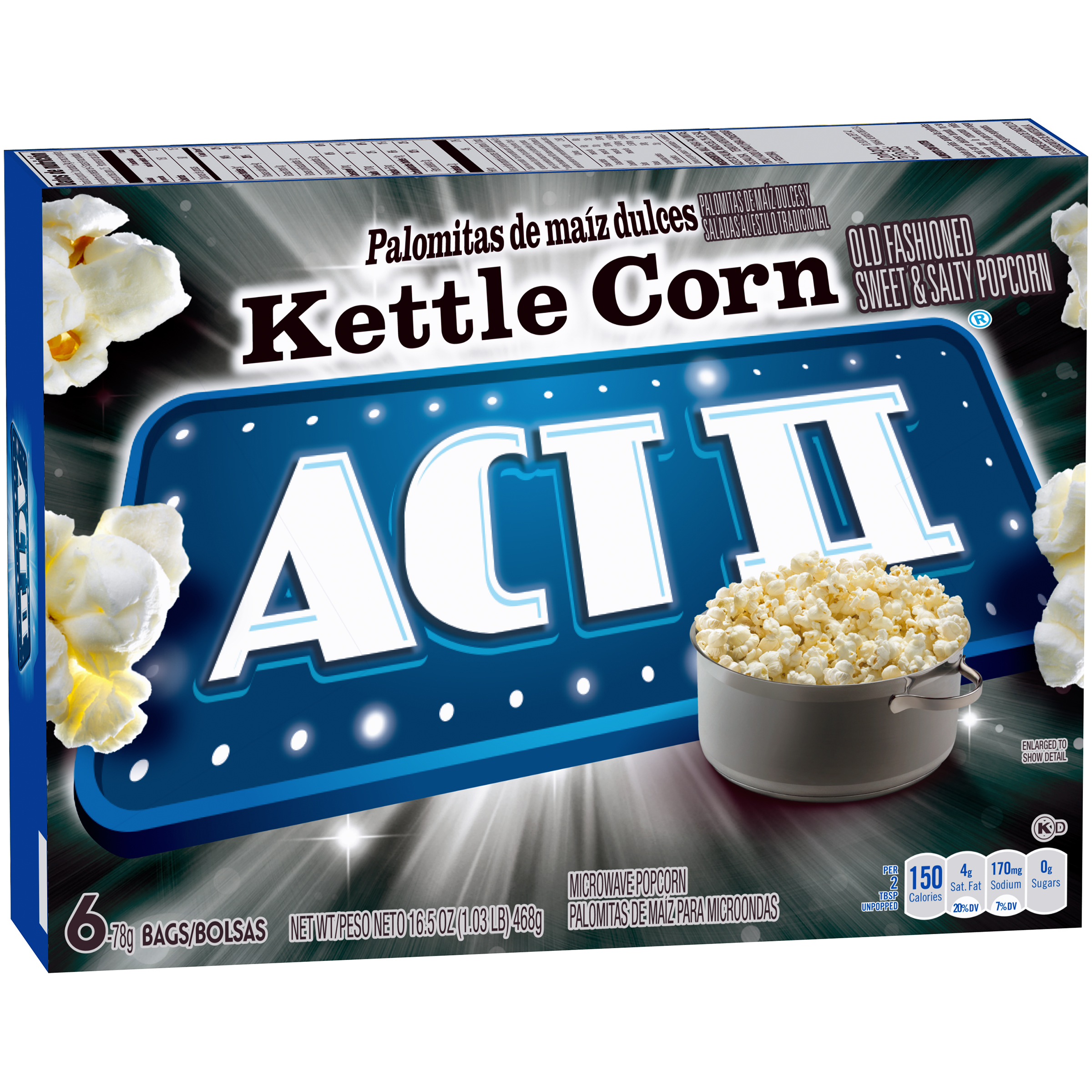 Act II Kettle Corn Microwave Popcorn 6-78g Bags by ConAgra Foods Inc.