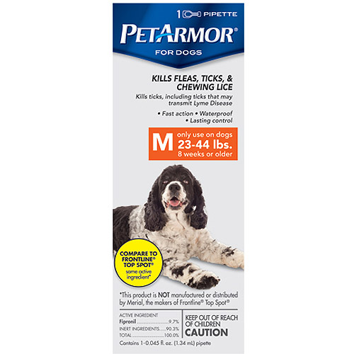 PetArmor Flea & Tick Protection for Dogs, 23-44 Pounds, 1 month supply