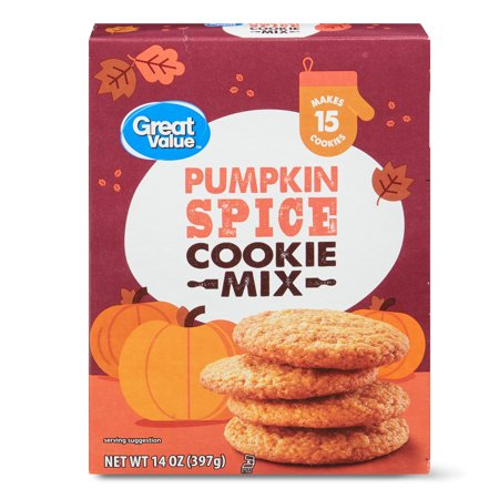 Great Value Pumpkin Spice Cookie Mix, 14 oz
