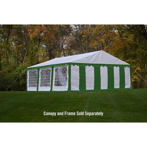 Enclosure Kit with Windows for Party Tent, 20' x 20' 6m x 6m, Green White, (Frame and Cover Not Included) by ShelterLogic