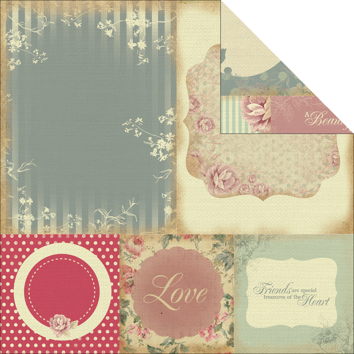 Magnolia Grove Double-Sided Paper 12 Inch X 12 Inch-Stylish