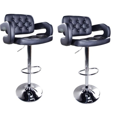 Fabulous Ktaxon Set Of 2 Adjustable Swivel Bar Stools Hydraulic Counter Pu Leather Pub Chairs With Arms Inzonedesignstudio Interior Chair Design Inzonedesignstudiocom