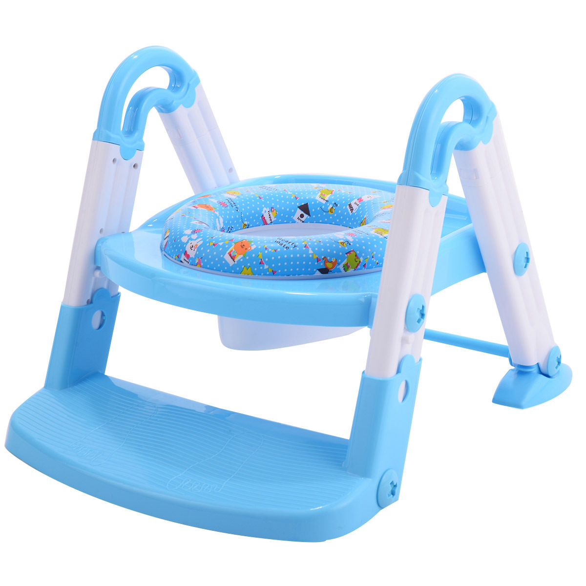 Costway 3 in 1 Baby Potty Training Toilet Chair Seat Step Ladder ...
