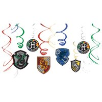 Harry Potter 'Mascots' Hanging Swirl Decorations (12pc)