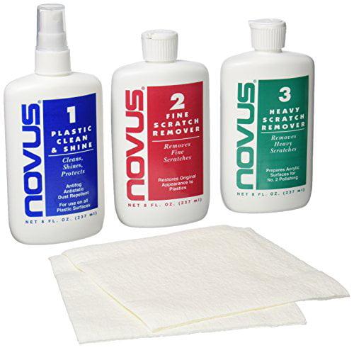 NOVUS 7100 Plastic Polish Kit - 8 oz. NEW FREE SHIPPING