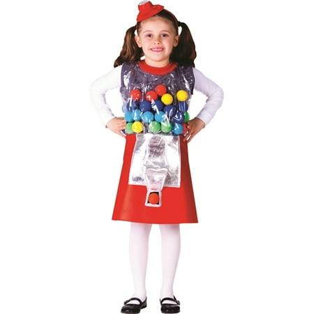 Halloween Costumes Nz Cheap (Gumball Machine Girl's Halloween Costume)