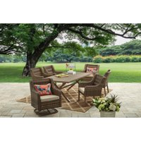 Better Homes and Gardens Hawthorne Park Patio Dining Set Outdoor Cushioned Wicker 7 Piece