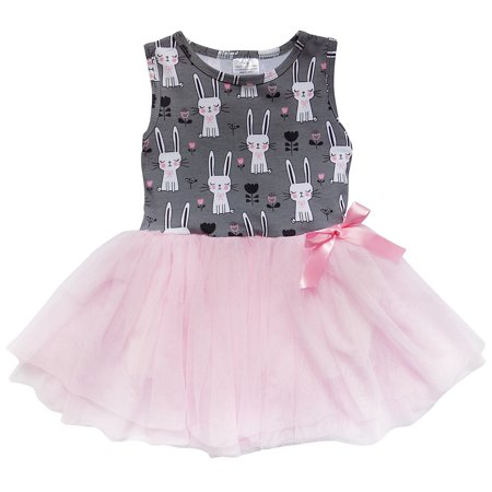 So Sydney Toddler Girls Tank Top Style Chiffon Tulle Layered Spring Summer Dress - Spring Dresses Girls