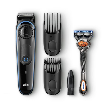 Braun BT3040 Men's Beard Trimmer/Hair Clipper, 39 Precision Length Settings for Ultimate Precision, Includes Fusion ProGlide
