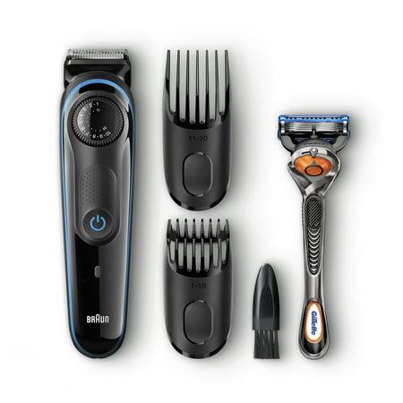 Braun BT3040 Men's Beard Trimmer/Hair Clipper, 39 Precision Length Settings for Ultimate Precision, Includes Fusion ProGlide Razor