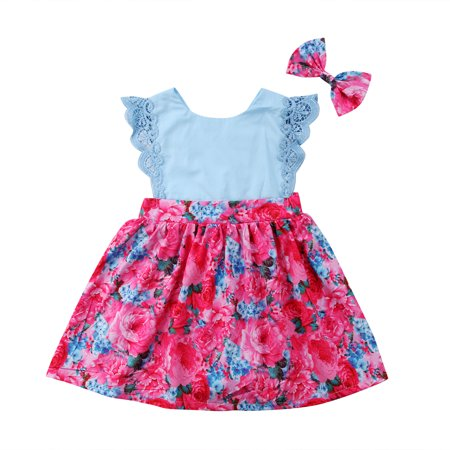 Boutique Toddler Kids Baby Girls Sisters Lace Floral Summer Dress Sundress Clothes - Online Toddler Boutiques