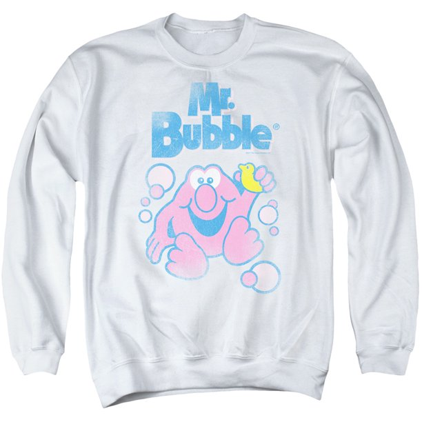 Mr Bubble 80S Logo Mens Crewneck Sweatshirt