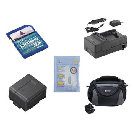 - Panasonic HDC-TM15 Camcorder Accessory Kit includes: SDVWVBG130 Battery, SDM-130 Charger, KSD2GB Memory Card, ZELCKSG Care & Cleaning, SDC-26 Case