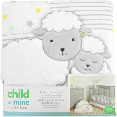 Carter S Child Of Mine Sheep Family 3 Piece Crib Bedding Set