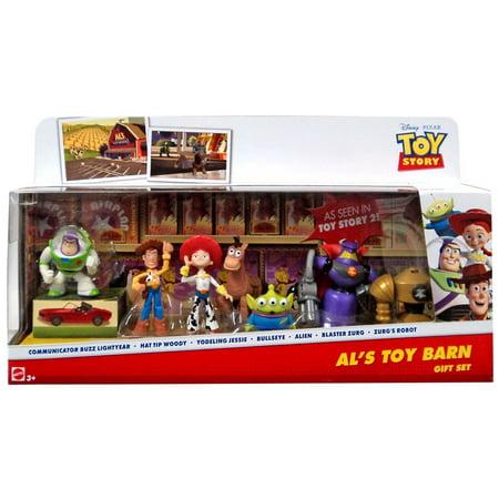 Toy Story 20th Anniversary Al's Toy Barn Gift Set Mini Figure 7-Pack [Buzz Lightyear, Woody, Jessie, Bullseye, Alien, Zu - Woody And Buzz And Jessie