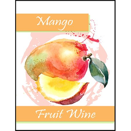 Mango Fruit Wine Bottle Labels](Mini Wine Bottle)