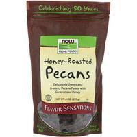 Now Foods  Real Food  Honey Roasted Pecans  8 oz  227 g