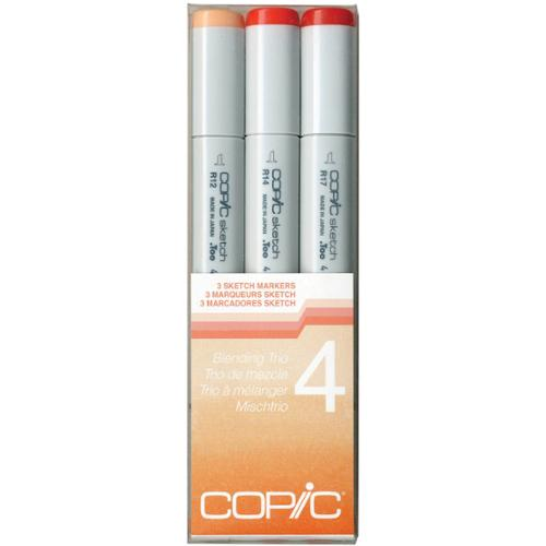 Copic Sketch Blending Trio Markers 3/Pkg-4