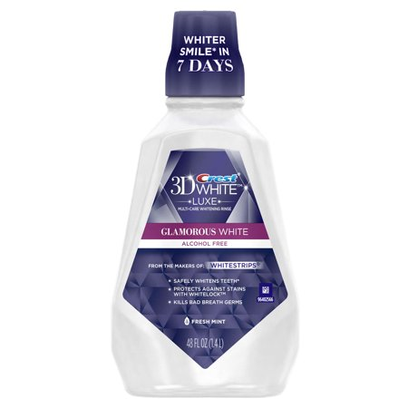 (2 pack) Crest 3D White Luxe Glamorous White Multi-Care Whitening Fresh Mint Flavor Mouthwash 1.4 L