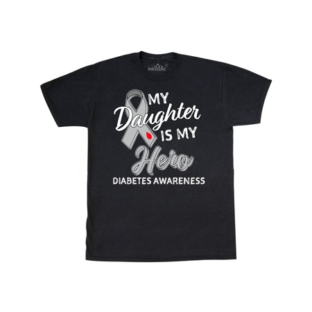 Inktastic My Daughter Is My Hero Diabetes Awareness T Shirt