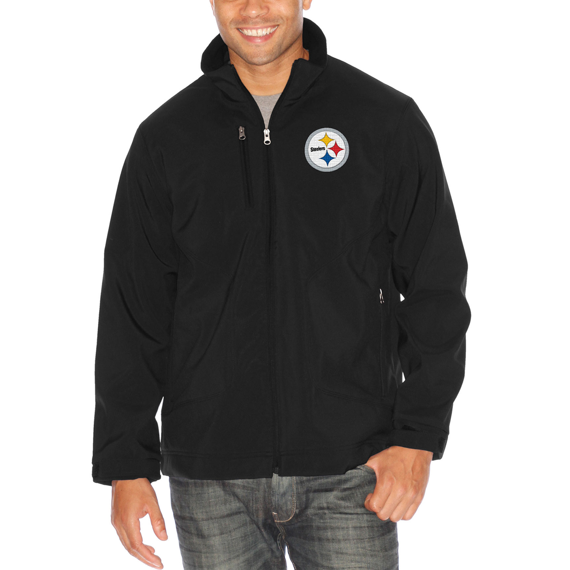Pittsburgh Steelers G-III Sports by Carl Banks Strong Side Soft Shell Jacket - Black