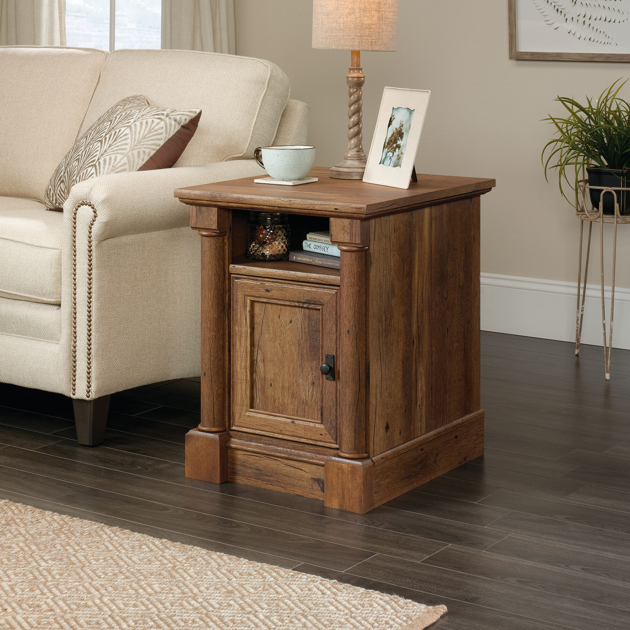Sauder Palladia Side Table, Vintage Oak Finish