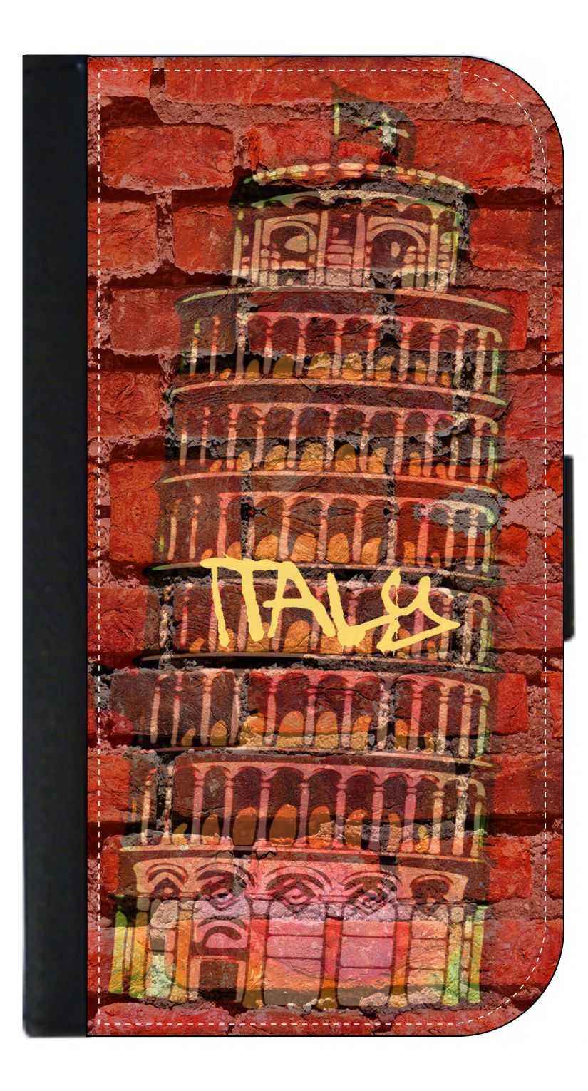 Italy- Leaning Tower of Pisa Brick Print Wall Art - Wallet Style Phone Case with  sc 1 st  Walmart & Italy- Leaning Tower of Pisa Brick Print Wall Art - Wallet Style ...