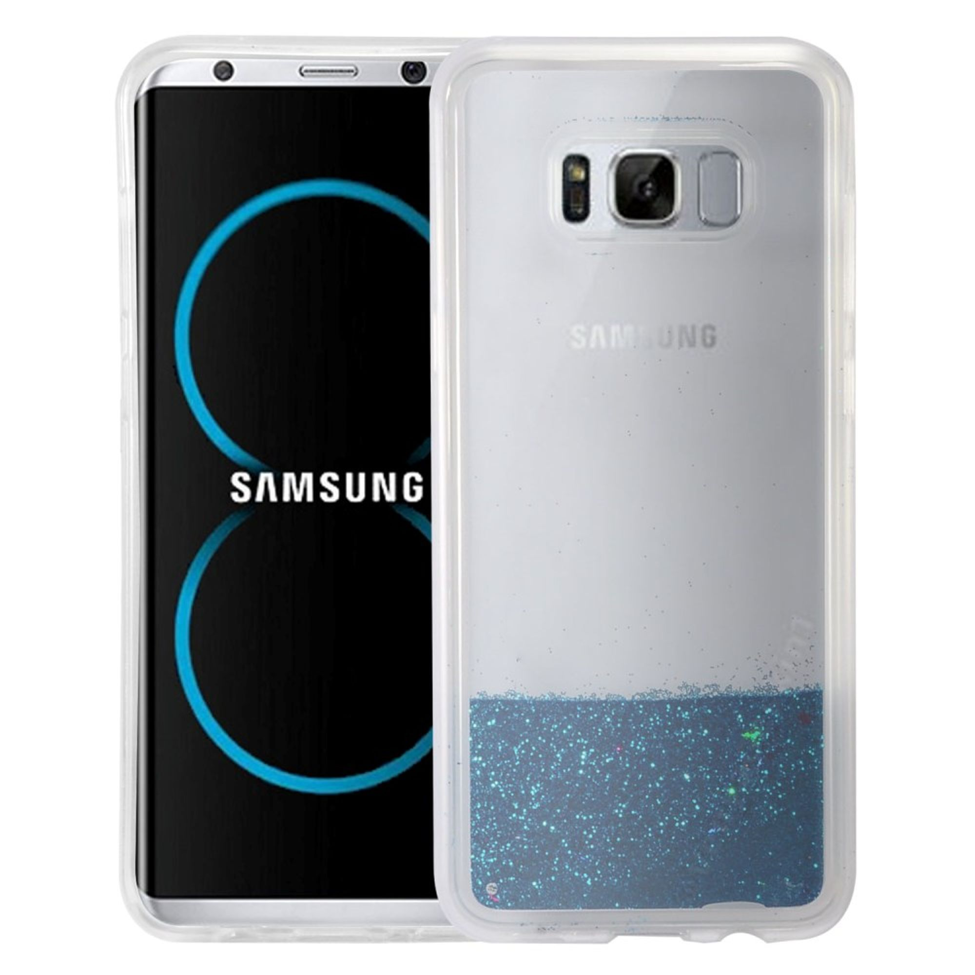 Samsung Galaxy S8 Plus Case, Samsung Galaxy S8+ Case, by Insten Quicksand Glitter Hard Plastic/Soft TPU Rubber Case Phone Cover For Samsung Galaxy S8 Plus S8+