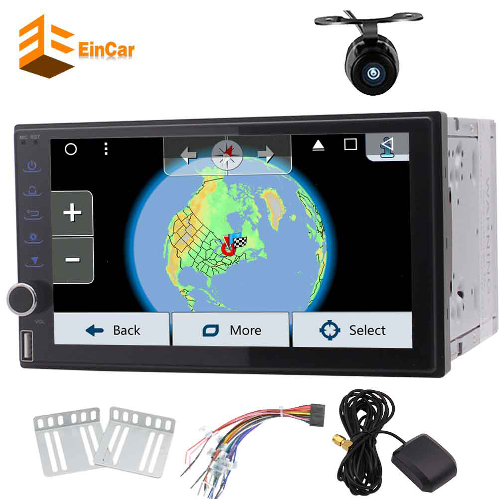 Android 7inch Double 2DIN indash Car Radio Stereo GPS Navi WIFI Bluetooth+Camera