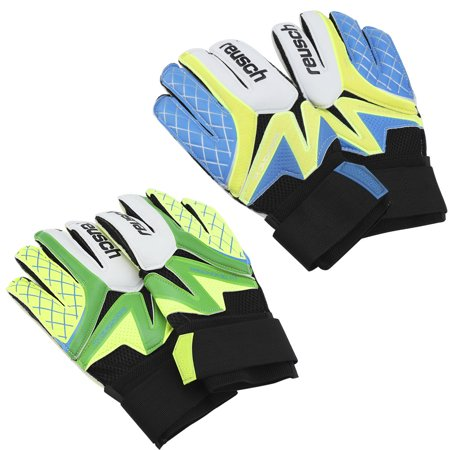 Soccer Goalkeeper Equipment - Yosoo 1Pair Durable Thickened Latex Soccer Goalkeeper Gloves Accessory, Soccer Goaltender Gloves, Football Gloves