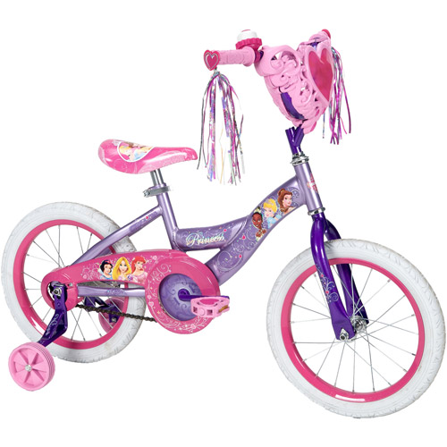 "16"" Huffy Disney Princess Girls' Bike with Heart Basket"