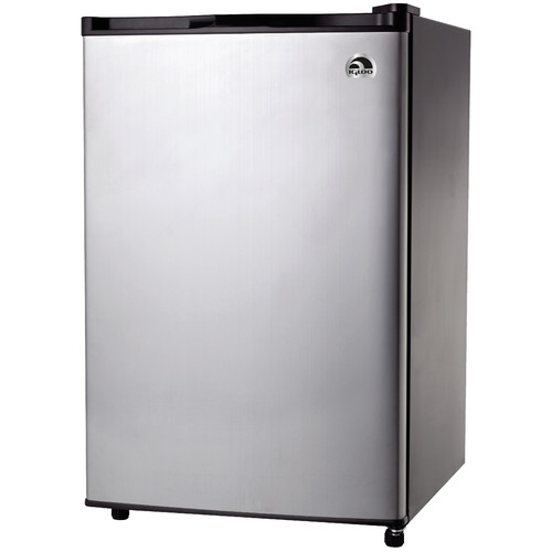 Igloo 4.6 cu ft Refrigerator and Freezer, Stainless Steel