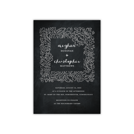Personalized Wedding Invite - Rustic Rose - 5 x 7 Flat](Wedding Invites Cheap)