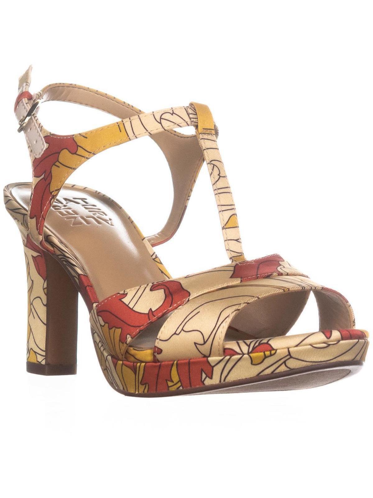 Womens Naturalizer Finn Ankle Strap Heeled Sandals, Papaya Print by Naturalizer