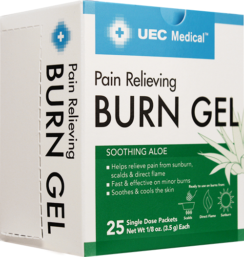 UEC Medical Pain Relieving Burn 3.5g Packet, 25 count