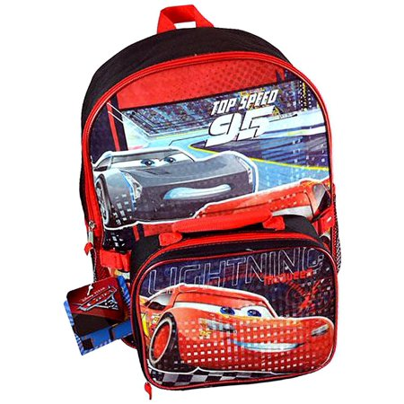 b7aaa855dcb KidPlay Products - Cars 3 Backpack and Lunch Box Set Featuring Lightning  McQueen - Walmart.com
