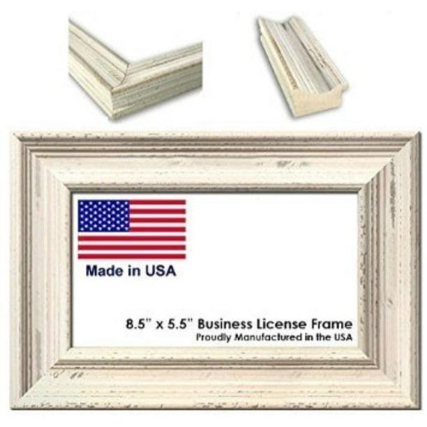 8 5 x 5 5 inch professional business license frame weathered white wood walmart com walmart com walmart